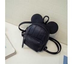 Рюкзачок дитячий Міккі з вушками чорний