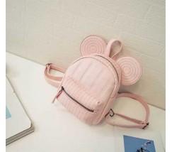 Рюкзачок дитячий Міккі з вушками рожевий