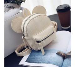 Рюкзачок дитячий Міккі з вушками білий