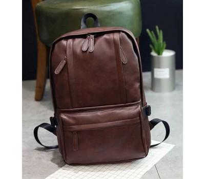 Мужской вместительный рюкзак коричневый