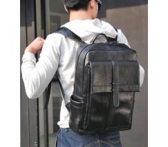 Стильный мужской городской рюкзак черный