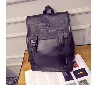Мужской ретро рюкзак черный