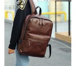 Городской мужской рюкзак коричневый