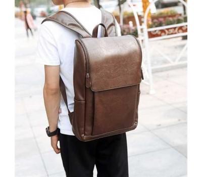 Большой мужской рюкзак коричневый