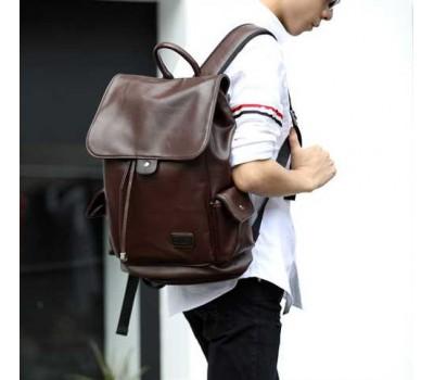 Стильний чоловічий рюкзак коричневий