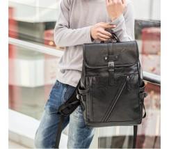 Черный мужской стильный рюкзак