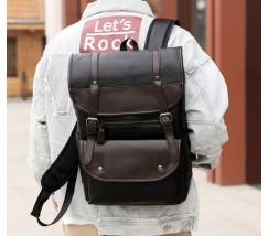 Красивый мужской рюкзак черный