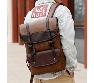 Красивый мужской рюкзак коричневый