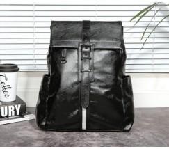 Стильный мужской рюкзак кожзам черный