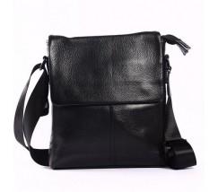 Мужская сумка-планшет с натуральной кожи черная