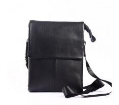 Мужская кожаная сумка-планшет черная