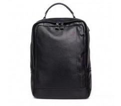Чоловічий шкіряний великий рюкзак чорний