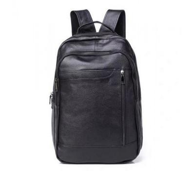 Мужской рюкзак из натуральной кожи черный