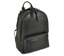 Кожаный мужской рюкзак черный