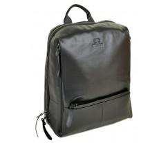 Чорний чоловічий шкіряний рюкзак