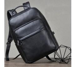 Рюкзак чоловічий з натуральної шкіри чорний