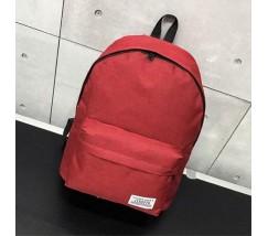 Великий тканинний рюкзак чоловічий, жіночий червоний