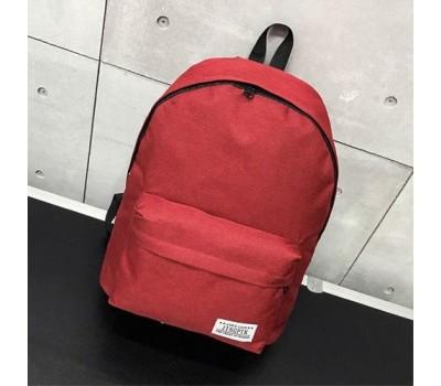 Большой тканевой рюкзак мужской, женский красный