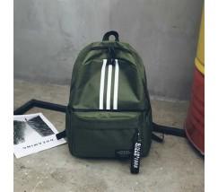 Рюкзак в стиле adidas зеленый
