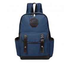 Рюкзак чоловічий з тканини синій