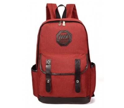 Рюкзак мужской из ткани красный