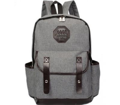 Рюкзак мужской из ткани серый
