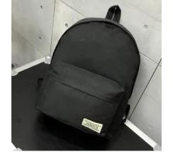 Великий тканинний рюкзак чоловічий, жіночий чорний