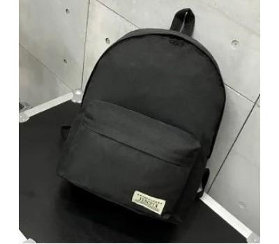 Большой тканевой рюкзак мужской, женский черный
