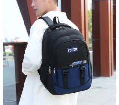Великий чоловічий рюкзак з тканини синій