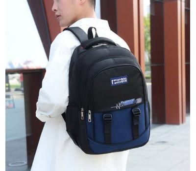 Большой мужской рюкзак из ткани синий