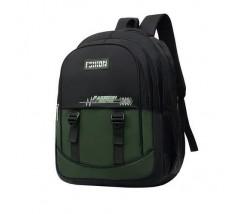Великий чоловічий рюкзак з тканини зелений