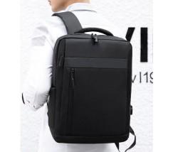 Тканинний рюкзак для ноутбука чорний