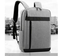 Тканинний рюкзак для ноутбука сірий