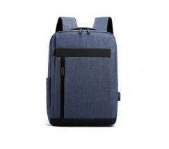 Тканинний рюкзак для ноутбука синій