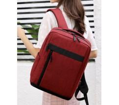 Тканинний рюкзак для ноутбука червоний