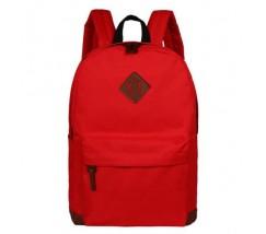 Большой рюкзак из ткани красный