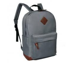 Большой рюкзак из ткани серый