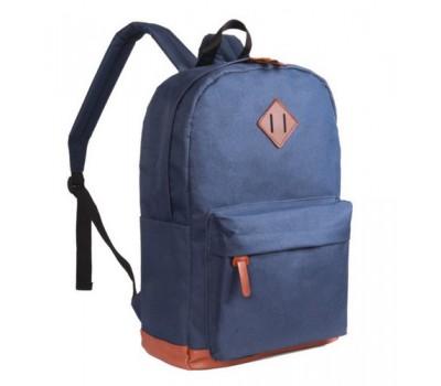 Большой рюкзак из ткани синий