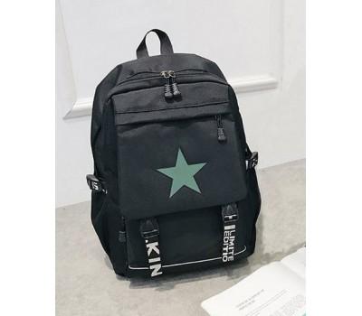 Большой черный рюкзак Звезда