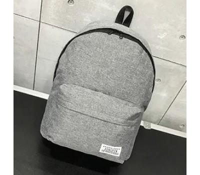 Большой тканевой рюкзак мужской, женский серый