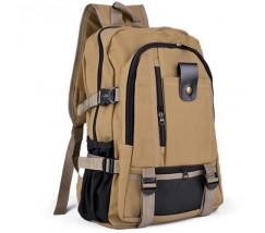 Большой спортивный рюкзак коричневый