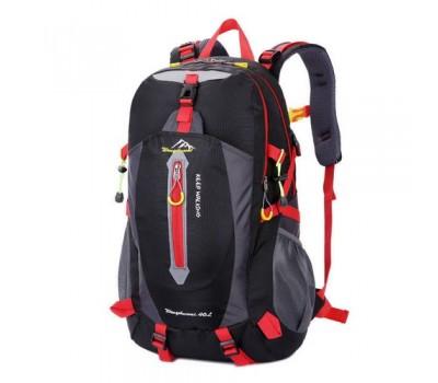 Спортивный рюкзак унисекс черный с красными вставками