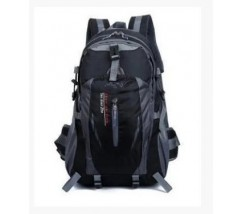 Спортивний рюкзак унісекс чорний з червоними вставками