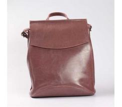 Повседневный кожаный рюкзак-сумка (трансформер), бордовый