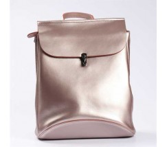 Ніжно-рожевий шкіряний рюкзак-трансформер