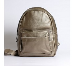 Женский рюкзак с мягкой кожи бронзовый