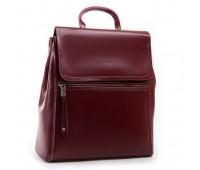 Классический кожаный рюкзак-сумка красный