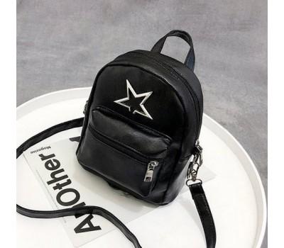 Рюкзак женский со звездой черный