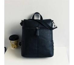 Женский рюкзак-сумка черного цвета