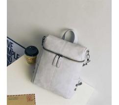 Жіночий рюкзак-сумка сірого кольору